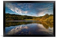 Rivelin Dams Reflections, Framed Print