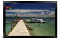Samal Island Jetty and Pump Boat , Framed Print