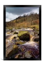 River Ashop Falls , Framed Print