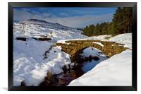 Burbage Valley Packhorse Bridge , Framed Print