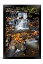 Lumsdale Waterfalls with Autumn Leaves