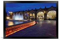 Sheaf Square at Night , Framed Print
