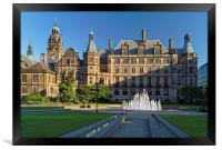 Sheffield Town Hall and Peace Gardens  , Framed Print