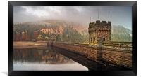 Mist over Derwent Dam , Framed Print
