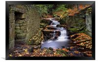 Lumsdale Waterfalls and Mill , Framed Print