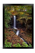 Cascading Falls in Lumsdale , Framed Print