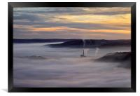 Inversion Sunrise in the Hope Valley , Framed Print
