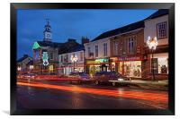 Chard, Somerset at Christmas                      , Framed Print