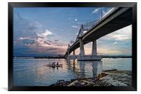 Marcelo Fernan Bridge at Sunset                   , Framed Print