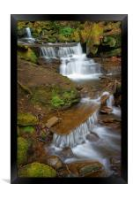 Lumsdale Cascading Falls, Framed Print