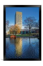 University Arts Tower and Weston Park, Framed Print