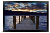 Windermere Boat Jetty Sunset                      , Framed Print