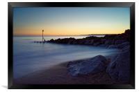West Bay Sunset                               , Framed Print