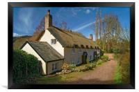 Dunster Cottage                       , Framed Print