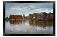 Gloucester Docks and Cathedral                   , Framed Print