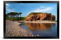 Budleigh Reflections                     , Framed Print