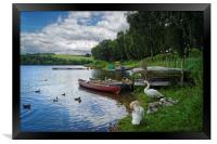 On the Banks of Ulley                       , Framed Print