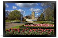 Cenotaph and Gardens, Clifton Park, Rotherham     , Framed Print