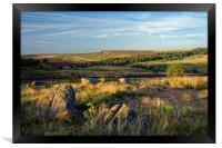 Burbage Rocks from Owler Tor                      , Framed Print