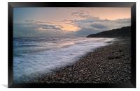 Lyme Sunset                      , Framed Print