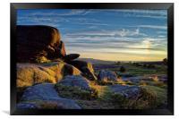 Owler Tor Sunset                               , Framed Print