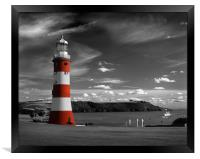 Smeatons Tower on Plymouth Hoe, Framed Print