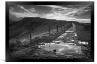 Great Ridge Mono Sunset                     , Framed Print