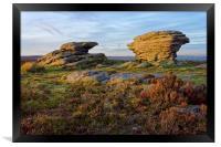 Ox Stones, Burbage Moor                           , Framed Print