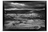 The Long and Winding Road  in Mono                , Framed Print