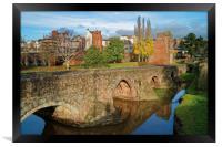 Medieval Exe Bridge                   , Framed Print