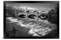 Norfolk Bridge and Burton Weir                    , Framed Print