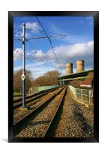 Tram Lines and Tinsley Cooling Towers, Framed Print