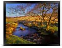 Burbage Brook in Autumn, Framed Print