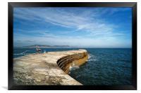 The Cobb, Lyme Regis                      , Framed Print