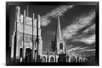 Sheffield Cathedral                    , Framed Print
