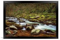 East Lyn River                               , Framed Print