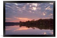 Chard Reservoir Sunset                            , Framed Print