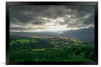 Hope Valley Light Rays                       , Framed Print