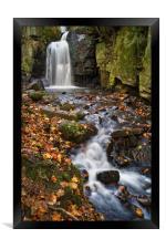 Lumsdale Falls Near Matlock                    , Framed Print