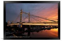 Albert Bridge, Framed Print