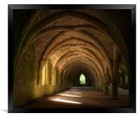 The Cloisters at Fountains Abbey, Framed Print