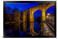 Knaresborough Viaduct at night, Framed Print