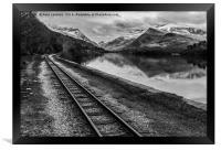 Llyn Padarn and Llanberis railway , Framed Print