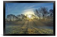 Misty Sunrays, Framed Print