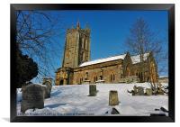 KINGSTON ST MARYS CHURCH SOMERSET, Framed Print