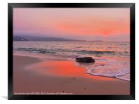 TOWANS BEACH HAYLE AFTER SUNSET