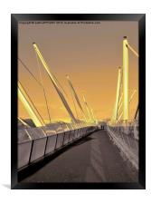 FORTHSIDE FOOTBRIDGE STIRLING SCOTLAND, Framed Print