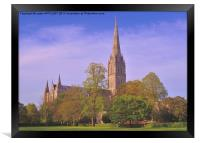 SALISBURY CATHEDRAL SPIRE, Framed Print
