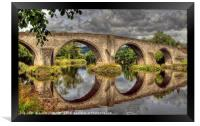 Stirling Old Bridge Reflections, Framed Print