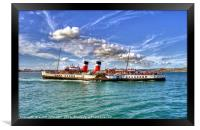 Paddle Steamer Waverley At Weymouth, Framed Print